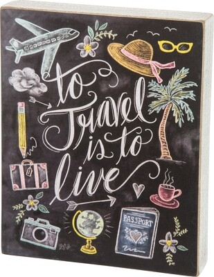 Chalk Sign-To Travel/28888