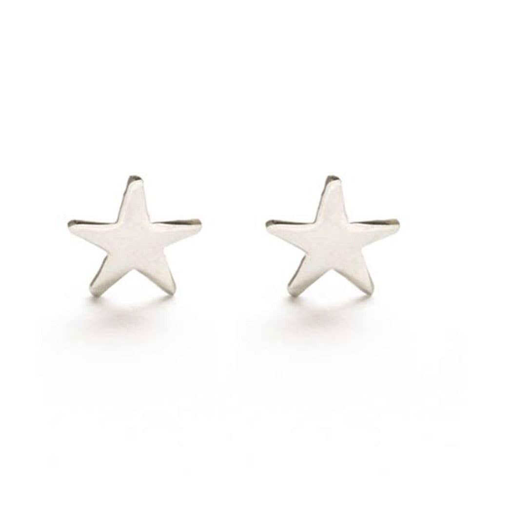 Sterling Silver Star Studs