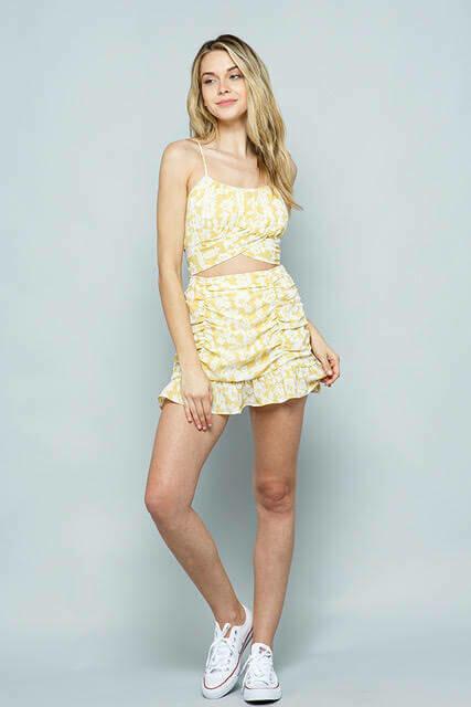 Shirred Skirt & Top Set