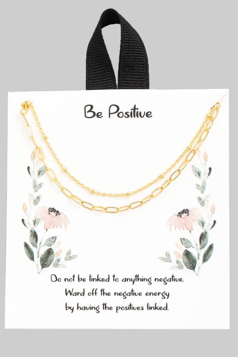 Be Positive Link Necklace