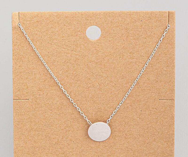 Brushed Circle Necklace
