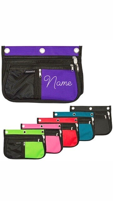 Personalized Multi Zip Mask Pouch