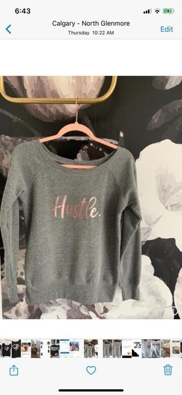 Hustle Wide Neck Sweater