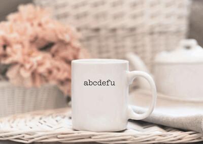 abcdefu Mug