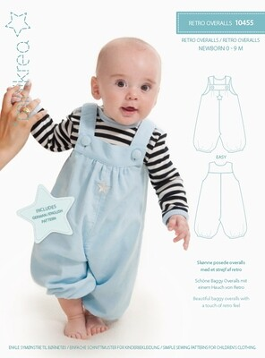Sewing pattern for retro overalls