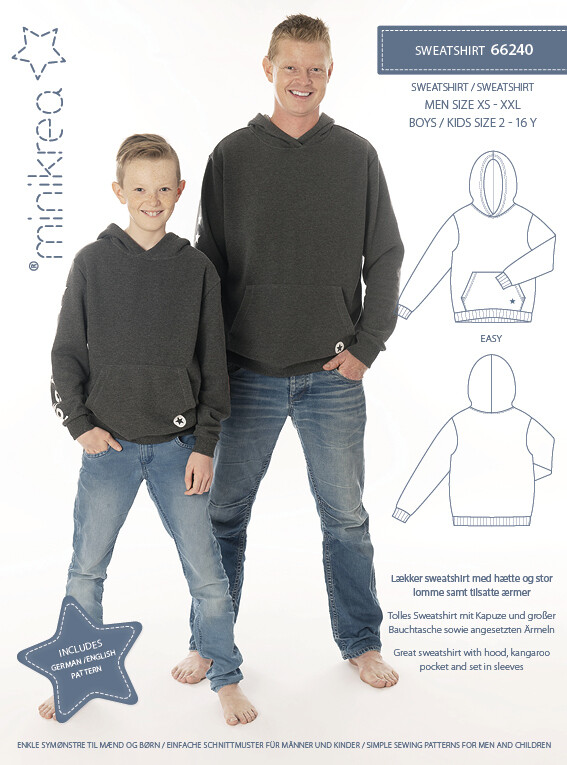 Sewing pattern for Sweatshirt