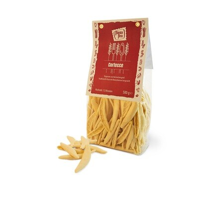 Traditionelle, italienische Pasta Cortecce - aus Hartweizengrieß (100g/0,90€)