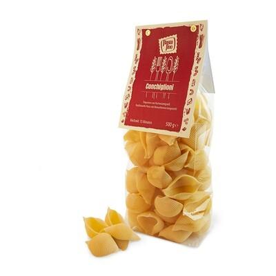 Traditionelle, italienische Pasta Conchiglioni - aus Hartweizengrieß (100g/0,90€)