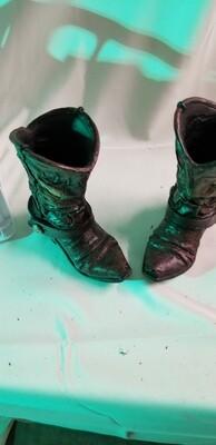 Western boot vases