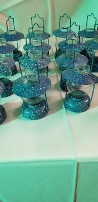 Blue enamel tea lights