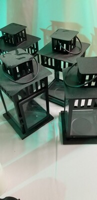 Black square lanterns