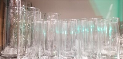 Clear Cylinder Vases / candle holders