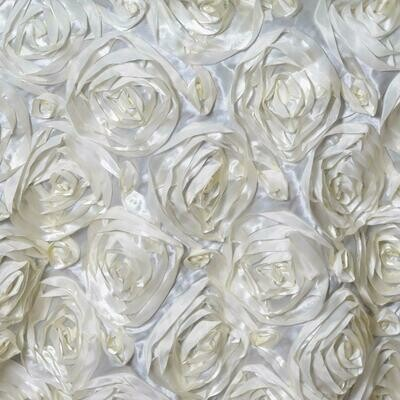 3D Ivory Rosette Overlay
