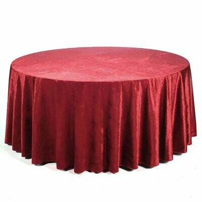 Burgundy-red velvet Table Linen