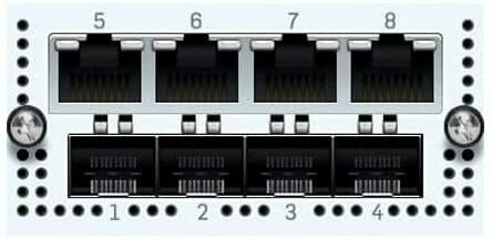 Sophos 4 port GbE SFP + 4 port GbE copper - 2 Bypass groups FleXi Port module  (for XG 750 and SG/XG 550/650 rev.2 only)