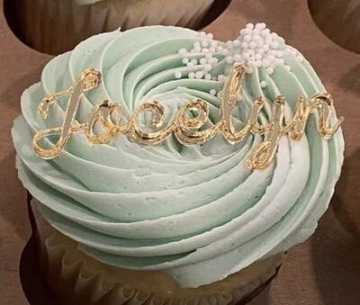 Name Cupcake Charms