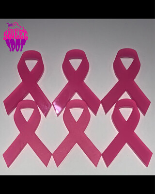 Breast Cancer Ribbon Cupcake Toppers
