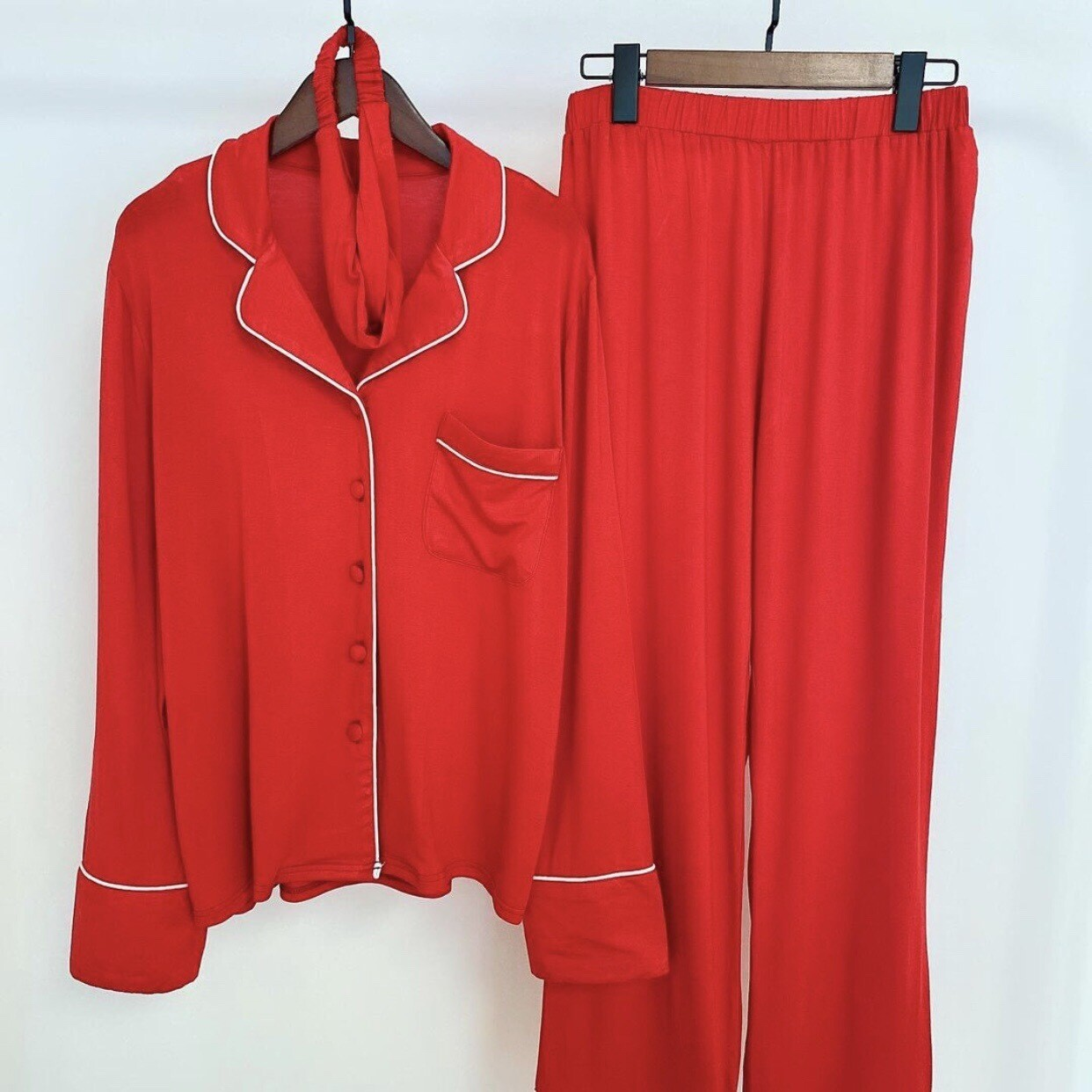 Luxury Red Three Piece Pyjamas