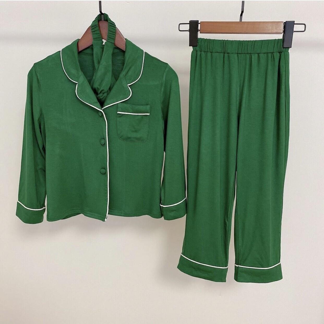 Luxury Green MINI Three Piece Pyjamas
