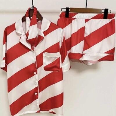 Candy Red Three Piece Pyjamas