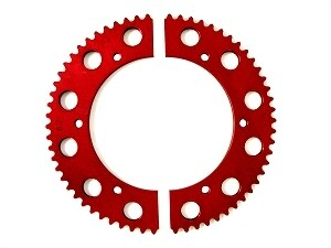SPLIT RED SPROCKETS CLICK FOR SIZE