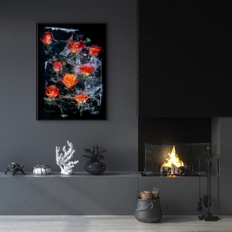 Orange Rose Abstract