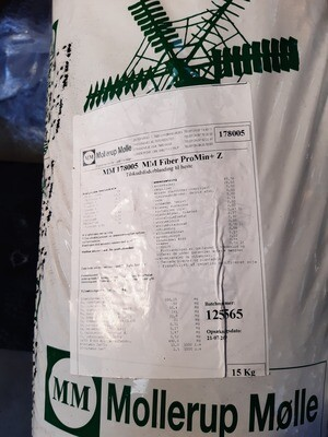 MM Fiber ProMin + Zoolac- 15kg. - med meget lavt stivelsesindhold - Tilsat Zoolac - et præbiotisk produkt  - køb 10 sække og få rabat og gratis levering.