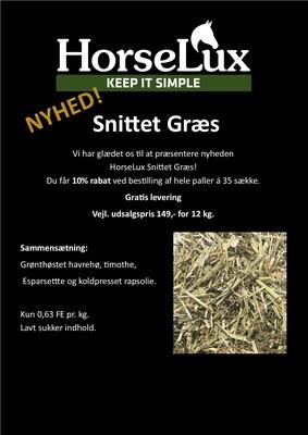 HorseLux Snittet Græs 12kg fra 134kr