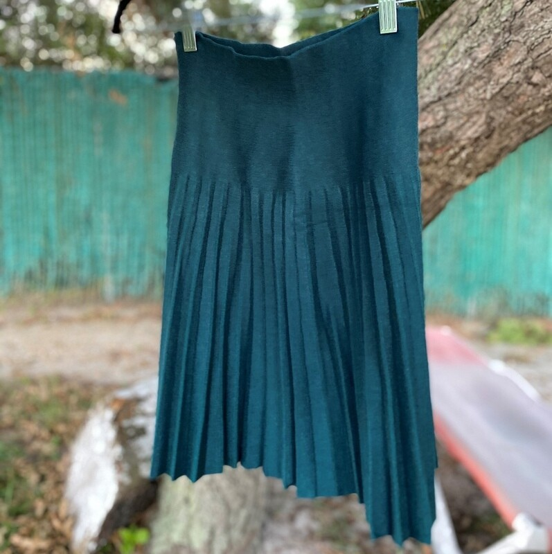 MM pleated skirt - peacock