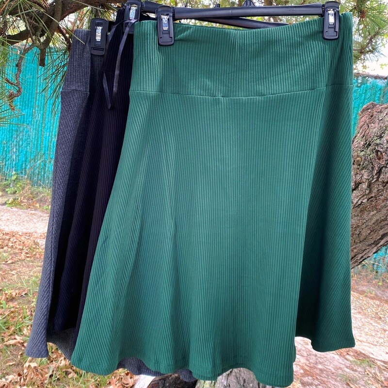 Ribbed A line skirt