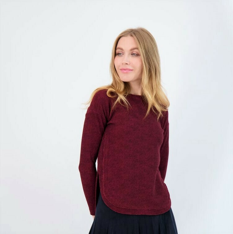 High low knit top (2 colors)