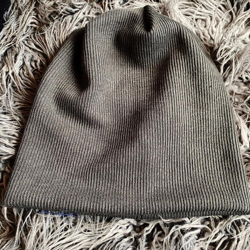 Lux knit beanie - gray