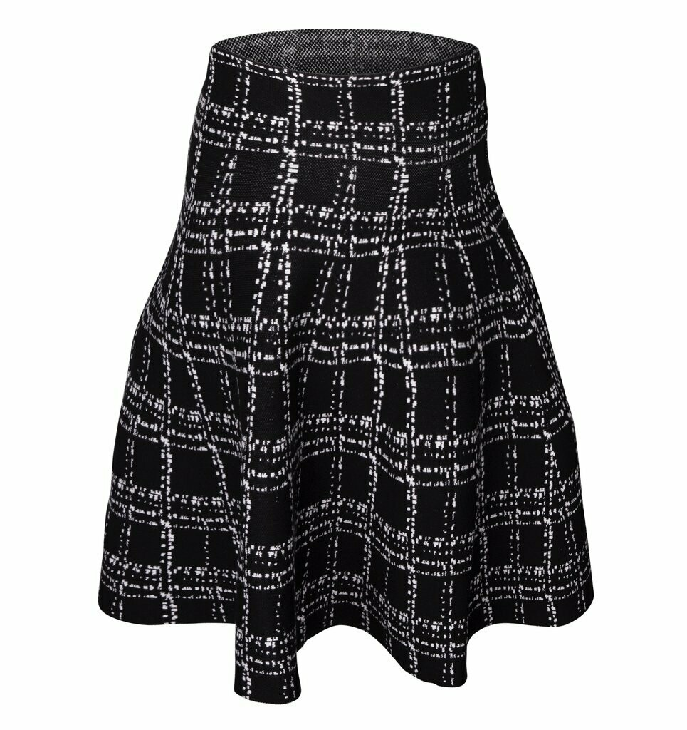 MM Skater Skirt Blk/Wht Tweed