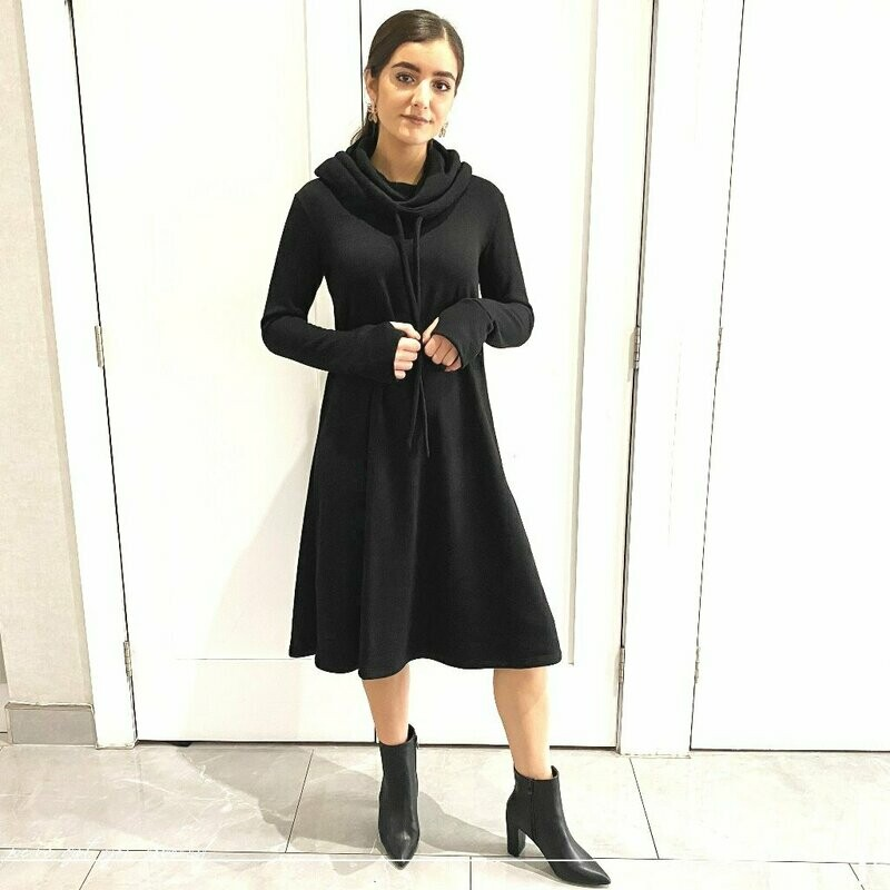 Cowl neck - Most comfortable black dress