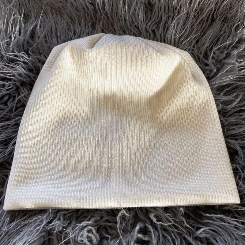 Lux knit beanie - winter white