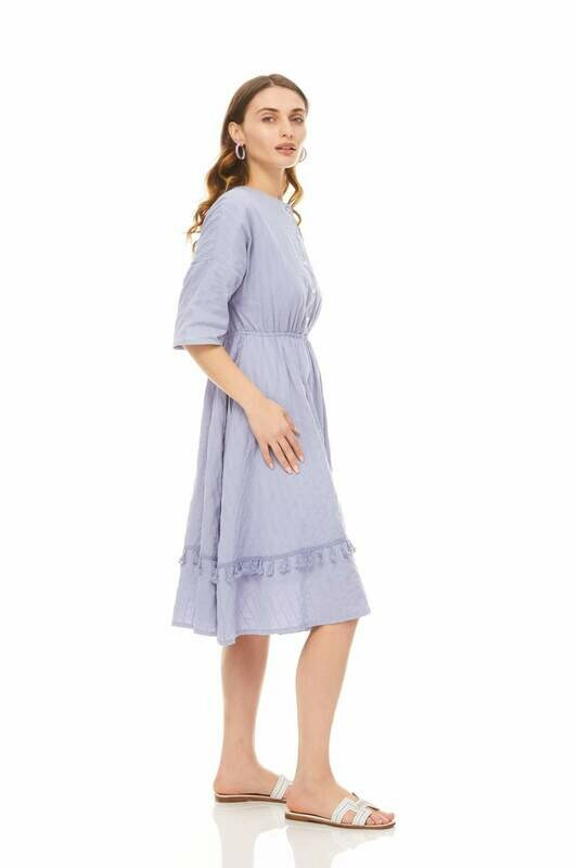 Periwinkle tassel dress
