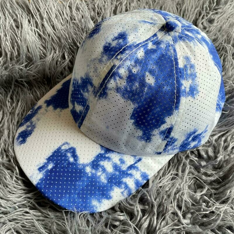 Tie dyed super lightweight caps - Royal blue