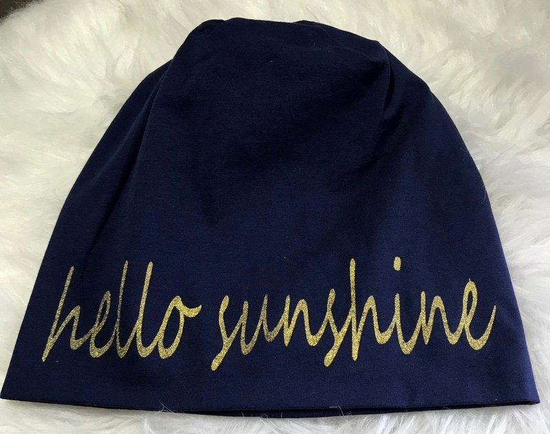 Hello Sunshine Beanie navy