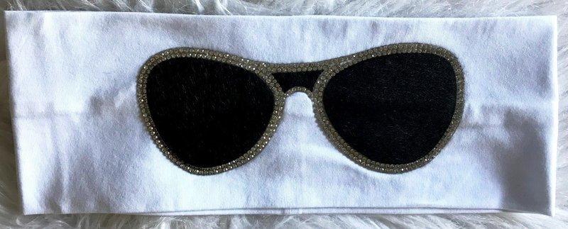 Sunglasses flat headband white