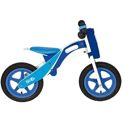 Wooden Balance Bicycle. Blue