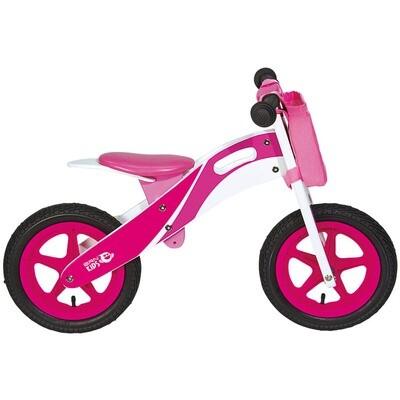 Wooden Balance Bicycle. Pink