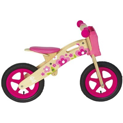 Wooden Balance Bicycle. Flowers
