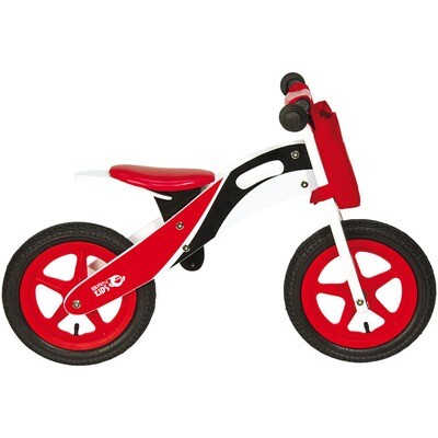 Wooden Balance Bicycle. Red