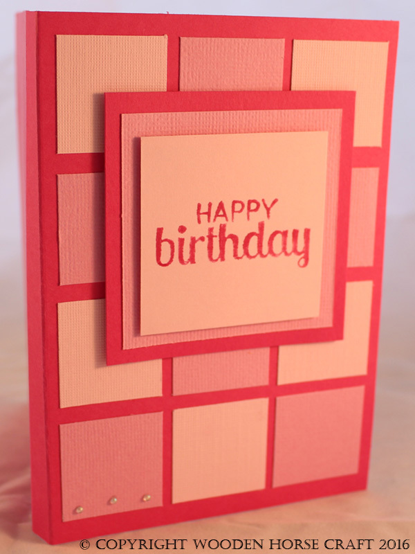 Card: Birthday birthday_pink_squares