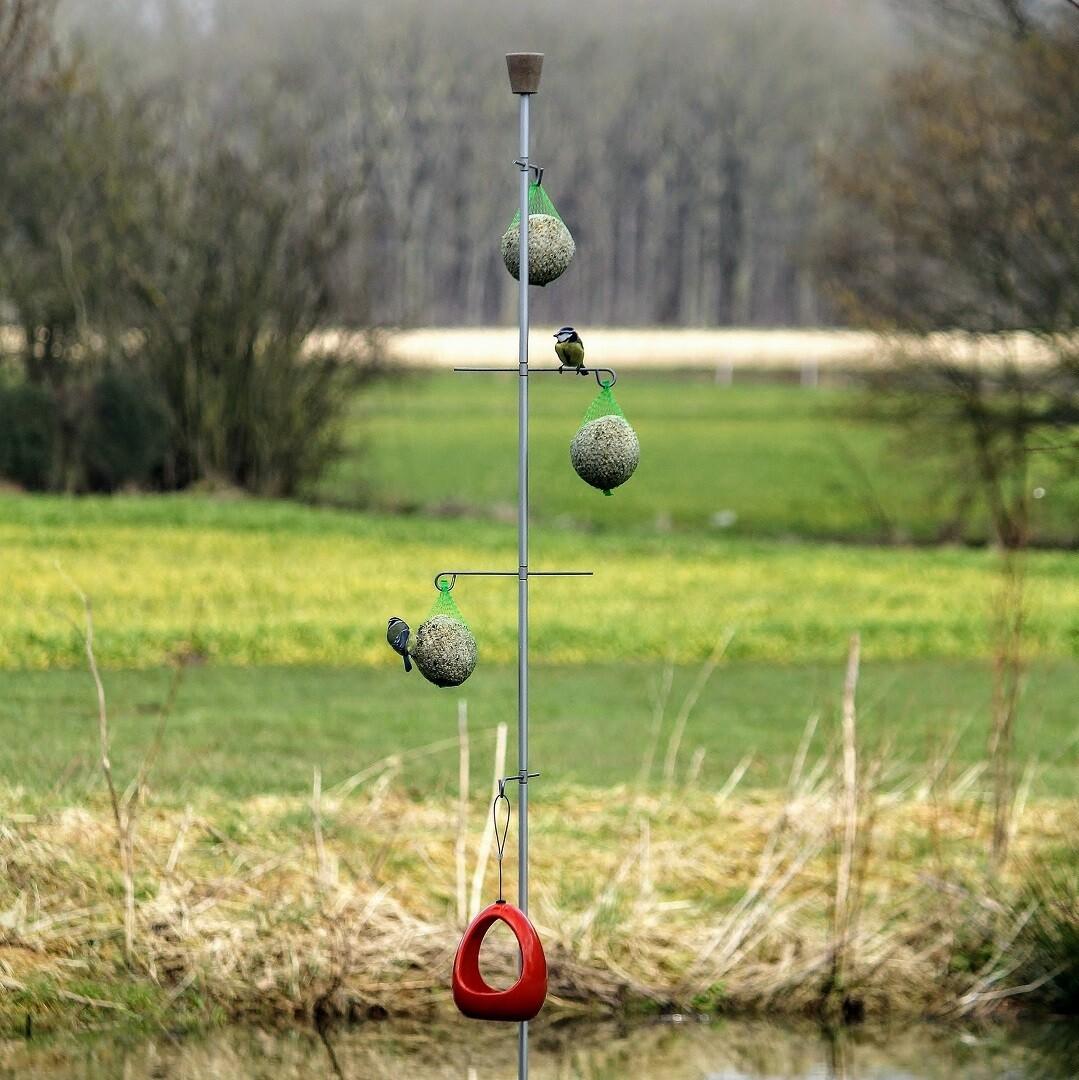 Uniek staand voederhuisje voor vogels | 4 haken