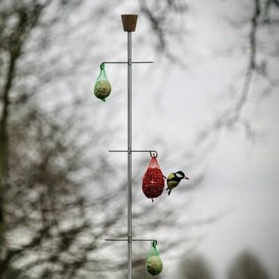 Uniek staand voederhuisje voor vogels | 3 haken