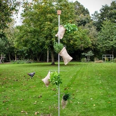 Mobiel kruidenstation met 4 haken | H 240 cm