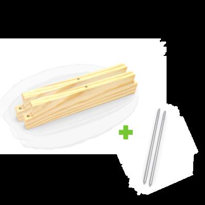 Uitbreiding voor bakken en kantopsluiting | L +53 cm