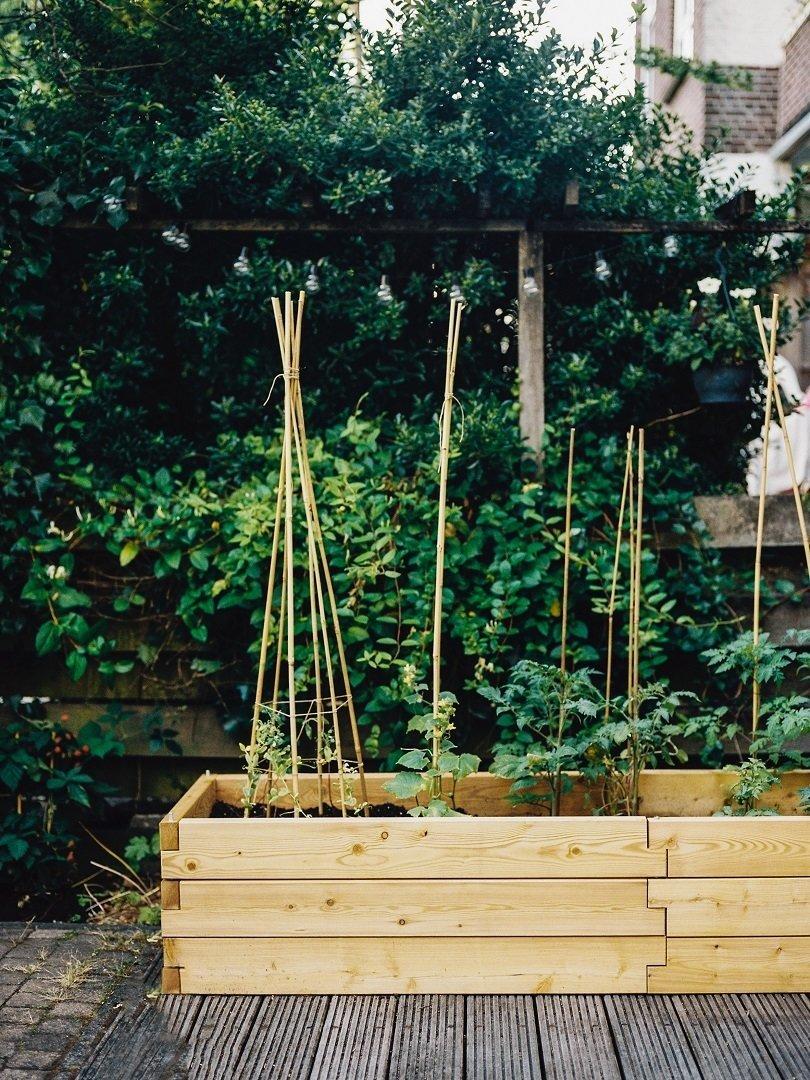 Modulair uitbreidbare houten plantenbak XL | L 210 x B 57 x H 25 cm