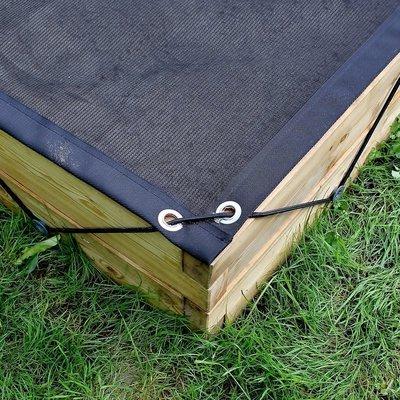 Gaasnet afdekking voor XL houten zandbak | L 210 x B 107 x H 25 cm